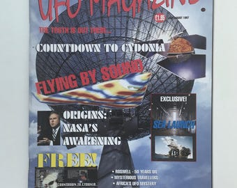 UFO Magazine, Return to Mars Poster, Roswell 50 Years Later, The Watchers, UFO Mysteries, Vintage UK Magazine, Truth is Out There