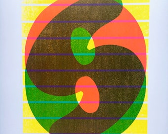 3-color Neon Six Print