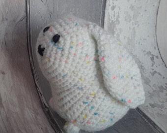 Rabbit soft toy - HALF PRICE, ce tested, Easter bunny, handmade crochet amigurumi soft toy rabbit, UK