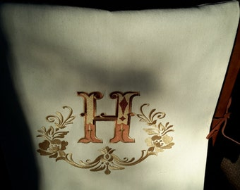 Monogram Chair Cover / Bib
