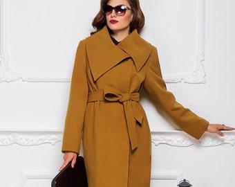 Coat Elady. Winter  Wool Coat. Women coat.