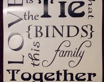 Love is the tie that binds this family together.