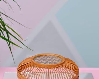 Vintage Round Basket w//Mid Century Vibe!