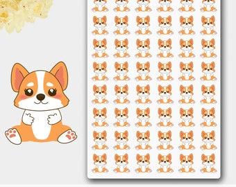 Corgi Planner Stickers,Corgi Stickers, Dog Stickers, Cute Reminders, Dog Planner Reminders, Animal Reminders, Puppy Stickers