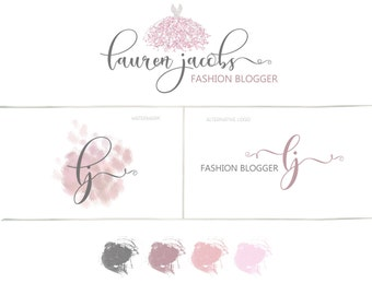 Photography watermark, Pre-made logo design, Fashion blog, Branding kit, Calligraphy Logo, Wedding Photographer branding, Blog Logo,