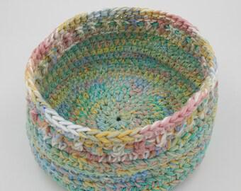 Crocheted Basket, Baby Room, Baby Shower Gift, Gift Basket, Nursery, Decorative Basket, Baby Decor, Baby Storage, Nursery Storage, Easter
