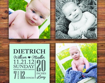 Personalized Photo Coasters - Mothers Day Gift - Custom Picture Coasters - Custom Coasters - Baby Shower, Mothers Day, Anniversary Gifts