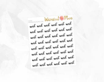 Work | Clear Matte Glossy Planner Stickers