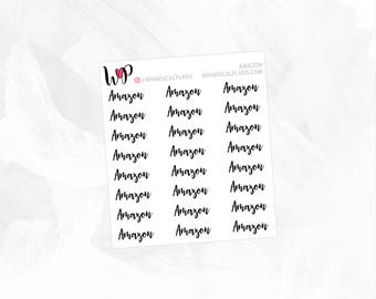 Amazon | Clear Matte Glossy Planner Stickers