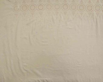 """Indian Decor Fabric, Floral Embroidery, Beige Fabric, Dress Material, Sewing Fabric, 46"""" Inch Cotton Fabric By The Yard ZBC7284A"""