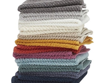 """Washcloths by Living Fashions, 12 Pack, 100% Extra Soft and Absorbent Ring Spun Cotton, 12"""" X 12"""", Assorted Colors"""
