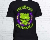 The Fiendish Frankies T Shirt - Halloween Shirt Frankenstein Universal Monsters Shirt Horror T Shirt - Available in Mens and Ladies Fit