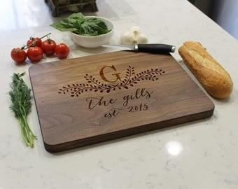Personalized Cutting Board, Custom Cutting Board, Engraved Cutting Board, Monogrammed Cutting Board, Custom Wedding Gift --CB-WAL- TheGILLS