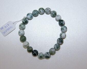 Tree Agate Bracelet / 8mm