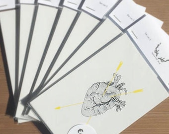 Set of 5 cards | Heart (SALE)