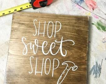 Shop Sweet Shop - Wood Sign