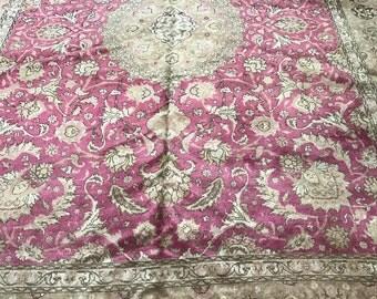 "9'9"" x 13'2"" Antique Persian Tabriz Oriental Rug - 1940s - Hand Made - 100% Wool"