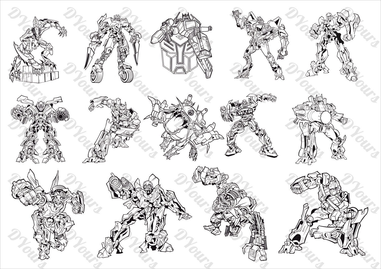 Transformers 14 vector models svg cdr ai pdf files instant for Laser engraver templates