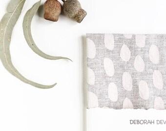 Gumdrop Linen teatowel hand printed