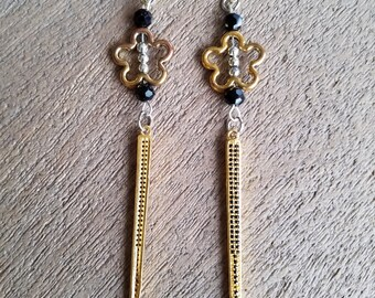 Paved Spear Earrings