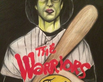 The warriors A4 original artwork  the furies, cult classic movie poster