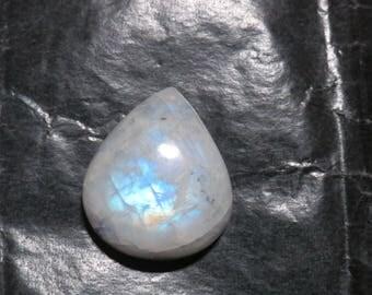 LARGE 27 mm Blue Flash Rainbow Moonstone Stone Cabochons AAA grade Cabochon Pear TearDrop flatback metaphysical Healing crystals loose gems