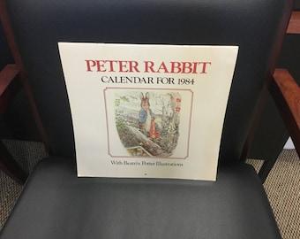 Peter Rabbitt Calandar 1984 Beatrix Potter Illustrations