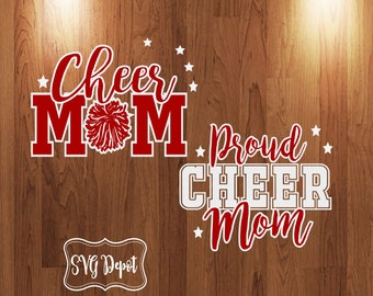 Cheer Mom svg file, proud cheer svg, mom svg, layered cut file, cameo svg, cameo dxf, silhouette studio file, cricut design space svg