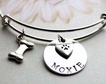 dog name bracelet, dog theme bracelet, dog jewelry, dog name jewelry, dog charm bracelet, dog charm jewelry,dog theme bangle,dog name bangle
