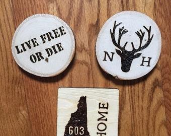 Custom/Personalized Woodburned Coasters