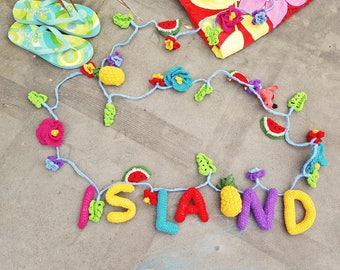 Personalised Fairy-Light Tropical Garland