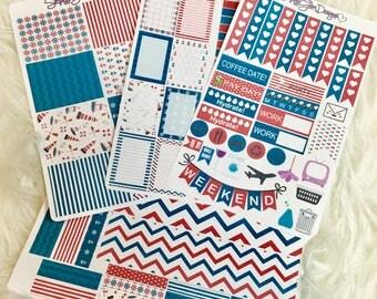 Sea Worthy Weekly Sticker Kit | Erin Condren & Plum Paper Planner