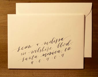 Custom Calligraphy Envelope Addressing // Handwritten Envelope // Wedding Envelope // Calligraphy Address Envelope
