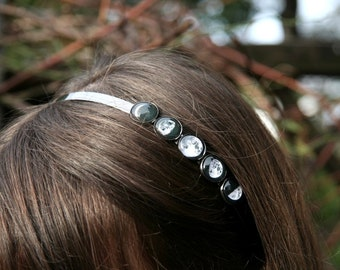 Moon phases band, hairband with moon phases, solar system hairband, moon jewelry, moon hairband, galaxy hairband, cosmic band