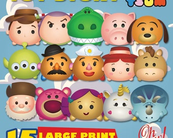 Toy Story Tsum Tsum Character Digital Large Print Files