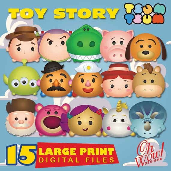 Toy Story Tsum Tsum Character Digital Large Print Files