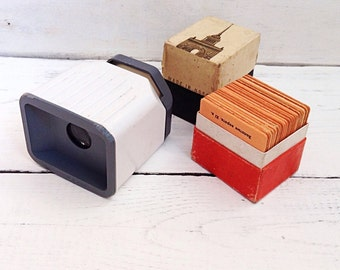 Collectible Vintage slide viewer Vintage photography slides Kiev Photo display 35 mm film Diascope Vintage gift Slide projector Photo viewer