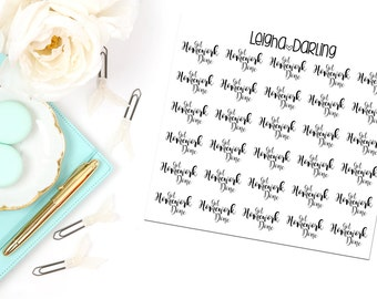 Hand Letter Homework Planner Stickers