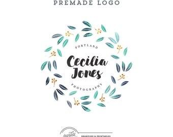 Floral Logo design Premade, Watercolor Floral Logo, Watercolor logo design, Feminine Branding, Premade Logo Design, Logo and watermark