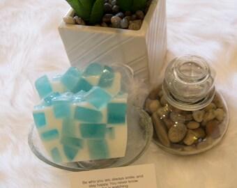Faith - Blue & White Handcrafted Glycerin soap