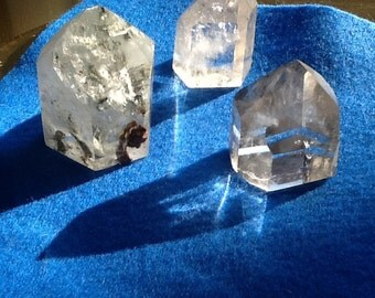 Beautiful Pieces of rock crystal point, pillars with inclusions