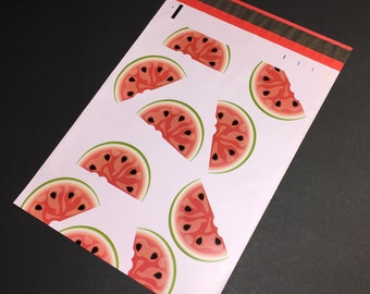 25 Designer WATERMELON Poly Mailers 10x13 Envelopes Shipping Bags