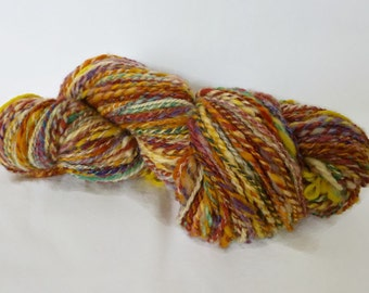 Thread spun hand, multicolored wool, 138g / 170 m