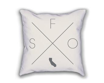 San Francisco Home Pillow - California Pillow, California Home Decor, San Francisco Home Decor, California Home Pillow
