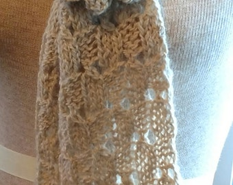 Suri Lace Scarf with Removable Flower Pin