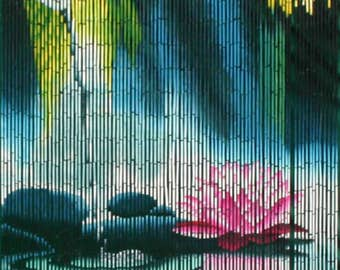 Serenity Nature Meditation Bamboo Beaded Curtain