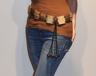 coconut and bamboo belt