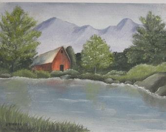 Painting, oil painting, small painting, 6x8 painting, landscape, artwork