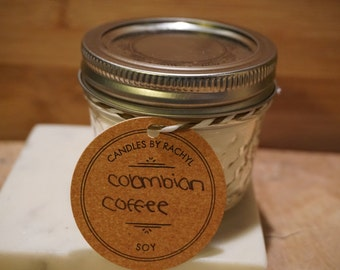 Soy Colombian Coffee Scented Candle 4oz