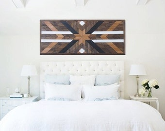 Reclaimed Wood Wall Art Tribal Wood Art Southwest Wood Art